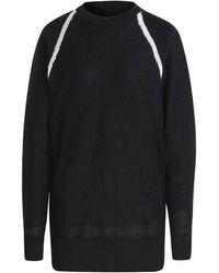 Y-3 Classic Sheer Knit Crew Sweatshirt - Black