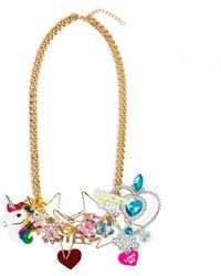Comme des Garçons Playful Charm Gold Tone Chain Necklace - Metallic