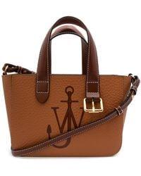 JW Anderson Mini Belt Leather Tote Bag - Brown