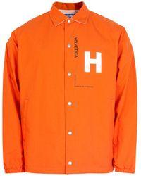 Junya Watanabe Helvetica Reversible Printed Coach Jacket - Orange