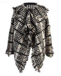 Yohji Yamamoto Oversized Knit Tweed Jacket - Black