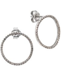 Rosa Maria Song Silver Diamond Earrings - Metallic
