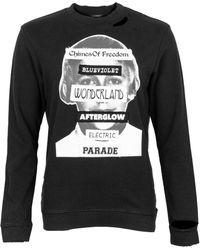 Raf Simons Distressed Crew Neck Sweatshirt - Black