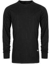 Rick Owens DRKSHDW Phlegethon Long Sleeve Level T-shirt Black