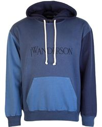 JW Anderson Colour Block Hoodie Navy - Blue