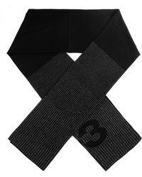 Y-3 Oversized Reflective Logo Scarf - Black