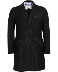 Junya Watanabe - Wool Blend Stitch Detail Coat - Lyst