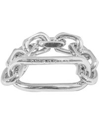 Maison Margiela Chain Link Logo Ring - Metallic