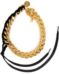 MM6 by Maison Martin Margiela Gold Tone Chunky Chain Necklace - Metallic