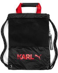 PUMA X Karl Lagerfeld Roma Backpack Tote - Black