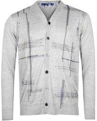 Junya Watanabe Stitch Detail Linen Cardigan - Grey