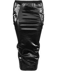 Rick Owens Lilies Shimmer Effect Midi Skirt - Black