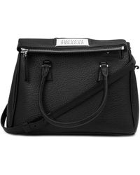 Maison Margiela Grained Leather 5ac Handbag - Black
