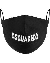 DSquared² Logo Face Mask - Black