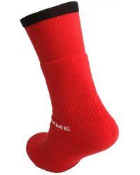 Yohji Yamamoto Pile Tube Socks - Red