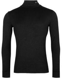 Raf Simons Stretch Turtleneck Top - Black