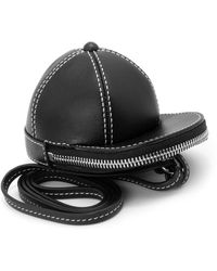 JW Anderson Nano Leather Cap Bag Black