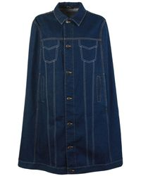 Maison Margiela Oversized Denim Blue Poncho
