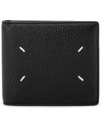 Maison Margiela Grain Leather Billfold Wallet - Black