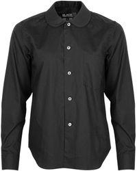 Comme des Garçons Rounded Collar Shirt Black