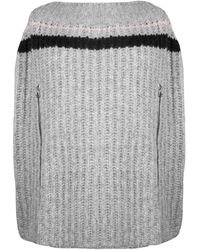 Raf Simons Cable Knit Transformer Zip Sleeve Sweater Light Grey