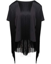 MM6 by Maison Martin Margiela Tassel Fringed T-shirt - Black