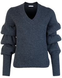 JW Anderson Bubble Sleeve Sweater Teal - Blue