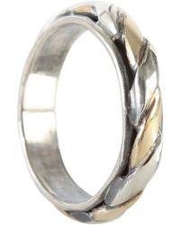 Ugo Cacciatori Torchon Ring Gold/silver - Metallic