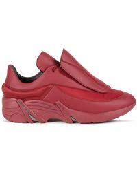 Raf Simons (runner) Antei Burgundy Sneakers - Red