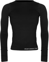 Rick Owens Performa Long Sleeve Stretch Top - Black