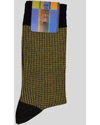 Gallo Houndstooth Yellow/black Socks