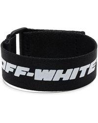 Off-White c/o Virgil Abloh Logo-patch Bracelet - Black