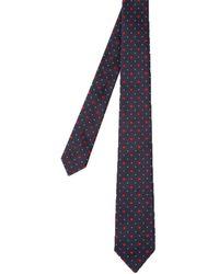 Paul Smith Navy 'heart And Dot' Motif Narrow Silk Tie - Blue