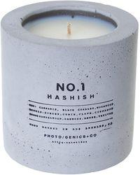 PHOTO/GENICS+CO No.1 Hashish Concrete Candle - Multicolor