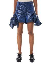 Xiao Li - Bowed Metallic Shorts - Lyst
