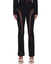 Dion Lee Suspended Lace Pants - Black