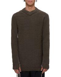 Boris Bidjan Saberi Knitted Wool Sweater - Multicolor