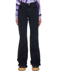 Raf Simons Flared Jeans - Black
