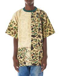 Longjourney - Vintage Camouflage Patchwork Tee - Lyst