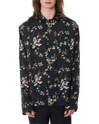 Haider Ackermann Floral Pajama Shirt - Black