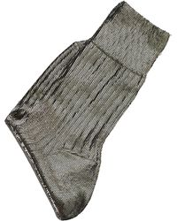 Ann Demeulemeester Metallic Socks - Multicolor