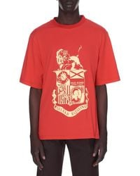 Wales Bonner Johnson Crest Graphic Tee - Red