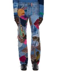 Kapital Patchwork Jeans - Blue