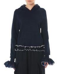 Xiao Li Hooded Ruched Sweater - Blue