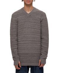 Boris Bidjan Saberi Knitted Cashmere Sweater - Gray