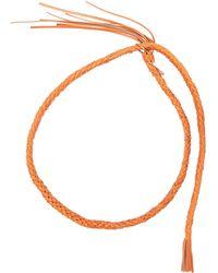 Undercover Braided Waist-belt - Orange