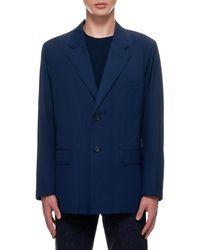 Issey Miyake Soft Garbadine Jacket - Blue