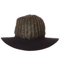 SuperDuper Hats Metallic Knit Crown Fedora - Multicolor
