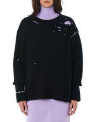 Ambush - Destroyed Knit Pullover - Lyst
