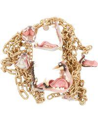 Comme des Garçons 'mouth Of Gold' Chain Necklace - Metallic